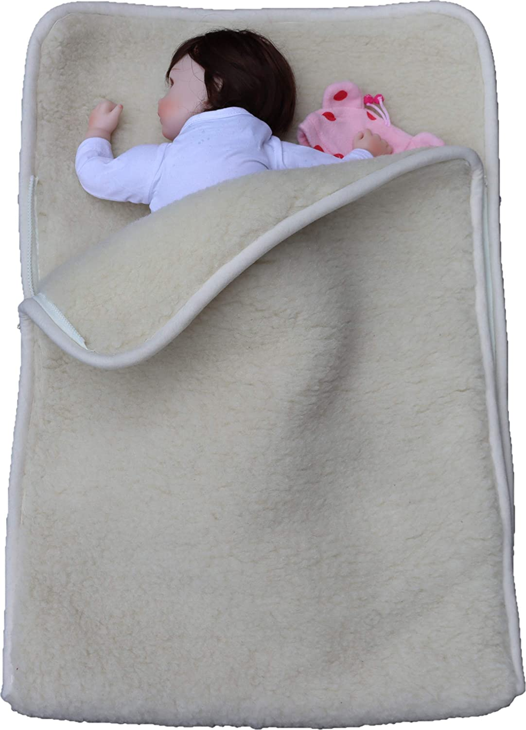 Go Planet First Merino Wool Natural Organic Baby Sleep Sack, Swaddle Blanket. Use with Stroller Bunting Bag footmuff, Put in Bassinet Crib or playpen to Keep Infant and Toddlers Warm and Comfortable