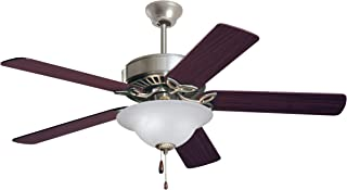 Emerson Ceiling Fans CF712BS Pro Series Indoor Ceiling Fan With Light, 50-Inch Blades, Brushed Steel Finish (Renewed)