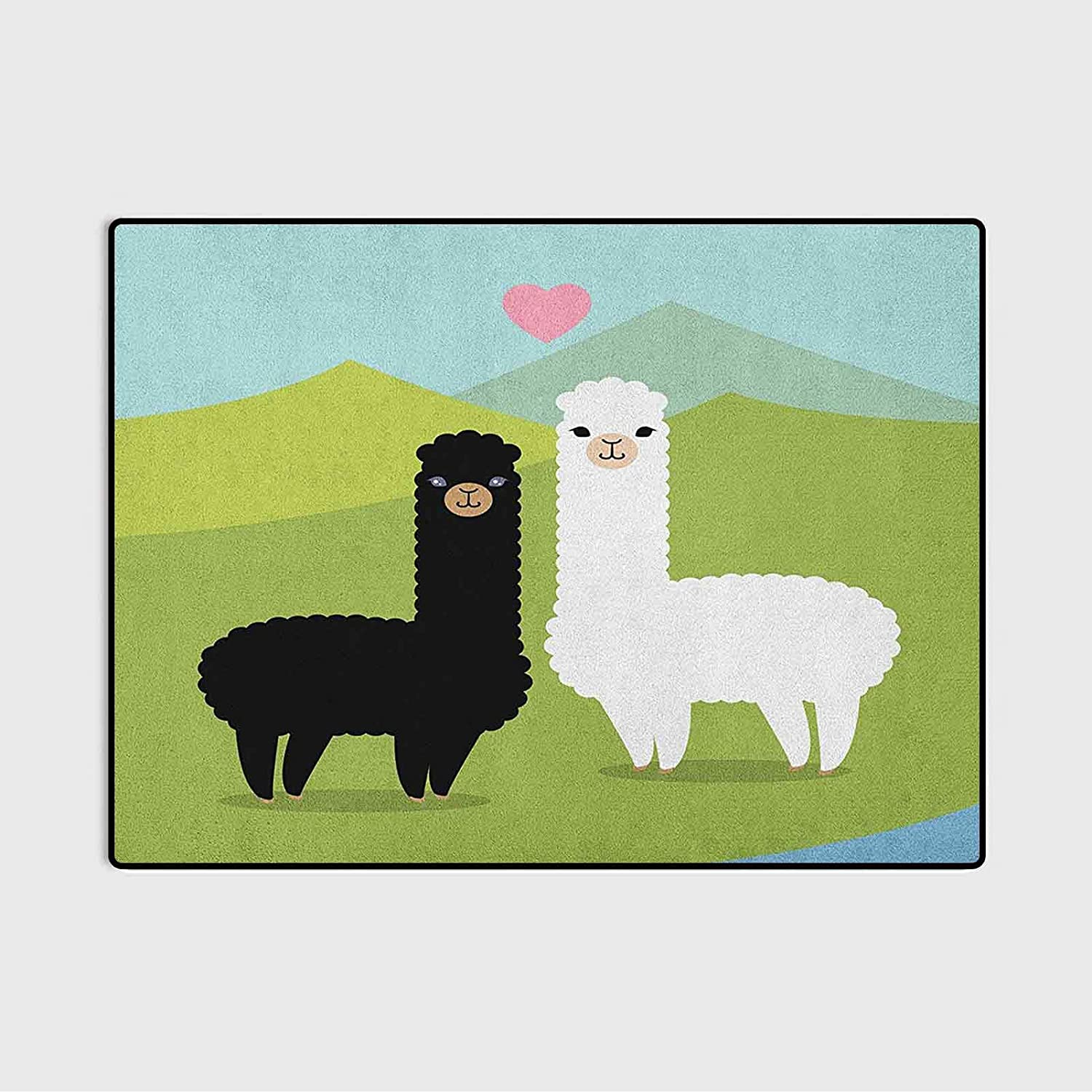 Llama Bath Rugs and mats Kitchen Rug in Alpacas Love Set sold Free shipping on posting reviews out The