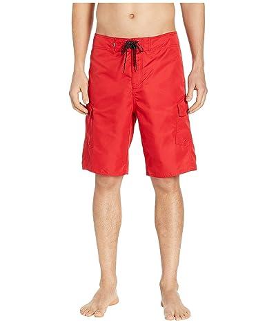 Quiksilver Manic Solid 21 Boardshorts (Quik Red) Men