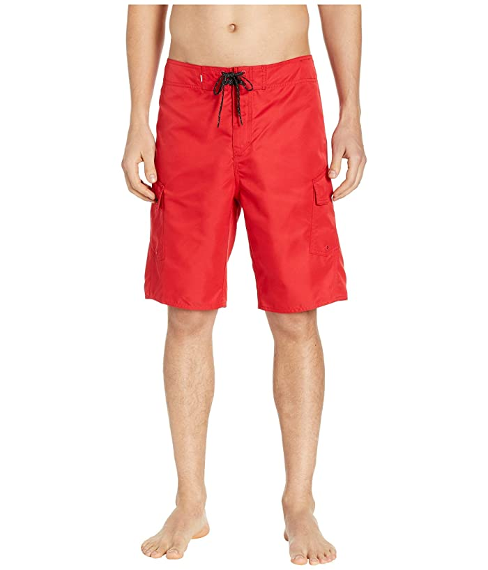 Quiksilver Manic Solid 21 Boardshorts (Quik Red) Men