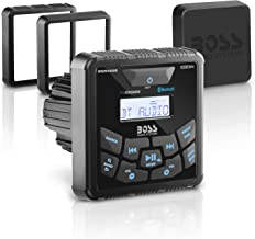 BOSS Audio MGR450B Marine Gauge Receiver - Bluetooth, Digital Media MP3 Player, No CD Player, USB Port, Am/FM Radio, NOAA Weather Band Tuner, Weatherproof