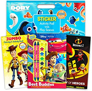 Disney Pixar Toy Story Coloring and Activity Book Super Set - Pack of 3 Books with Paint, Crayons, and Over 1000 Stickers ...