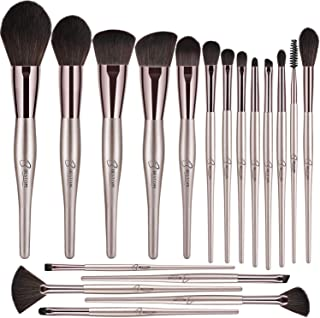 BESTOPE 18 PCs Makeup Brushes, Belly-type Handle Series Professional Premium Synthetic Cosmetic Brushes for Blending Foundation Powder Blush Concealers Highlighter Eye Shadows Brushes Kit