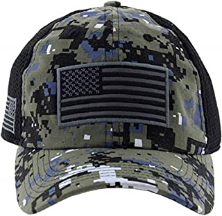 Altis Apparel American US Military Embroidered Flag Soft Mesh Hat Trucker Cap