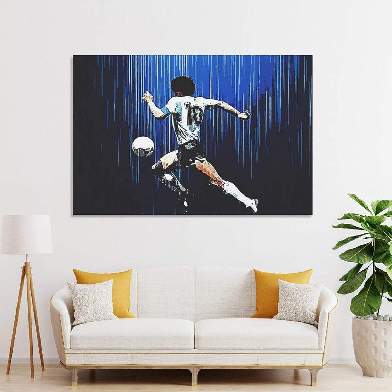 30 x 45 cm stampa artistica da parete moderna per la camera da letto Poster su tela con stella di calcio del Re Maradona Sports Superstar Star 5