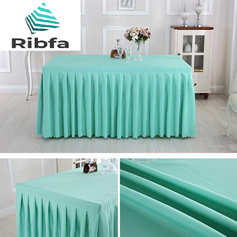 Table Skirts For Rectangle Tables Mint Green L 6 FtW 30 InchH 30 Inch