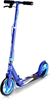 FUZION Cityglide B200 Adult Kick Scooter w/Hand Brake - 220lb Weight Limit - Folds Down - Adjustable Handle Bars - Smooth & Fast Ride