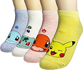 Womens Casual Socks - Cute Crazy Lovely Animal Cat Dogs Anime Character. Goods for Gift Idea.