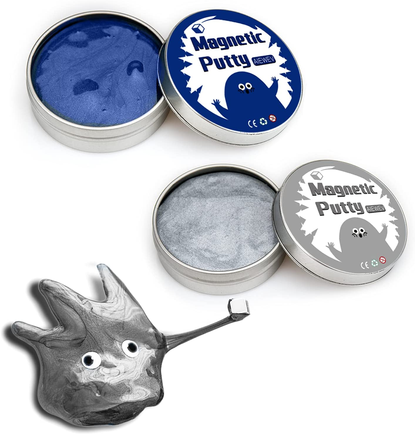 2 Pack Limited time sale Magnetic Slime Putty Magnet Albuquerque Mall for with Kids