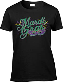Womens/Ladies T-Shirt Mardi Gras with Mask