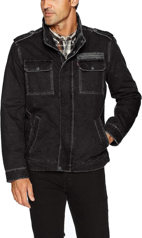 Levi's Men's Washed unisex Military Jacket Cotton Max 46% OFF