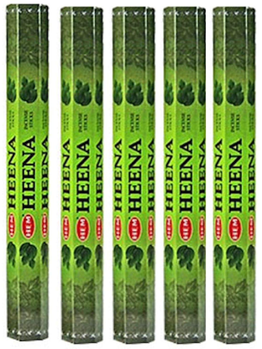 弾性駐地コジオスコHem Heena 100?Incense Sticks (5?x 20スティックパック)
