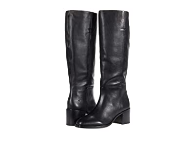 Frye Monroe Pull-On Tall (Black Waxed Full Grain) Women