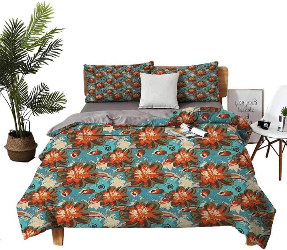 Floral 3-Piece Bedding Set Vibrant Chic Shabby Pastel Bloo Ranking New product!! TOP5 Large