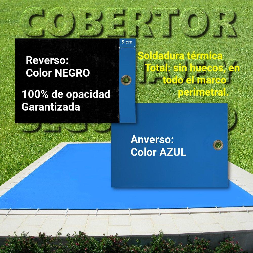 Cobertor, Lona, Cubierta, toldo, … Azul/Negro para Cubrir Piscina ...