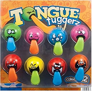 DISCOUNT PARTY AND NOVELTY Wholesale LOT of 100 Tongue TUGGERS Balls, Carnivals, Party Favors, Vending TM