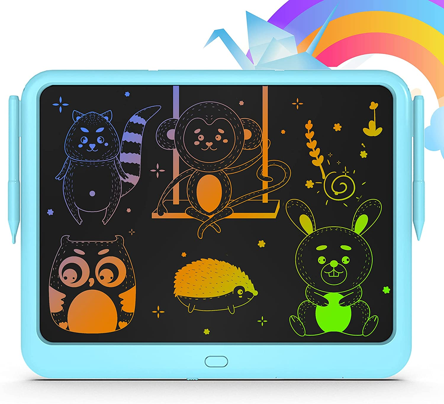 PZJDSR 15-Inch LCD Writing Tablet,Drawing Tablets for Kids Color Graffiti Writing Board for Kids Age 3-5,Children's Early Education Digital Drawing Board Educational Toy (Blue)