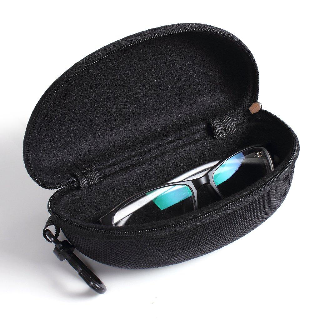 Mountain Warehouse Semi Hard Sunglasses Case in Black with Secure Zipper Closure