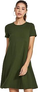 Amazon Brand - Symbol Women's A-Line Knee-Long Dress
