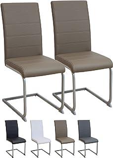 Albatros Silla Cantilever Murano Set de 2 sillas Marrón, SGS Probado