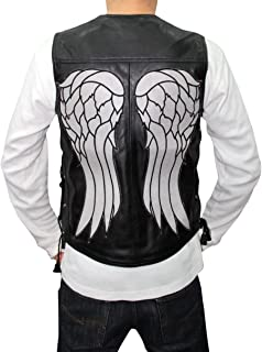 New The Walking Dead Daryl Dixon Wings Leather Vest