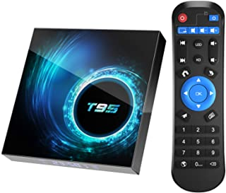 TV Box Android 10.0, T95 Android TV Boxes 4GB RAM 64GB ROM H616 Quad-core 64-bit Support 6K, 3D, WiFi, 2.4G, Ethernet, USB...