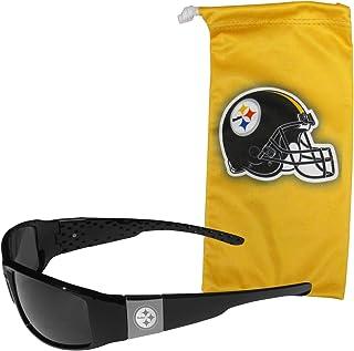 Siskiyou NCAA Fan Shop Etched Chrome Wrap Sunglasses