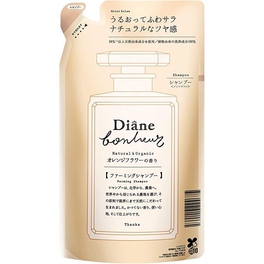 喉頭自動化のどダイアン ボヌール オレンジフラワーの香り モイストリラックス シャンプー 詰め替え 400ml