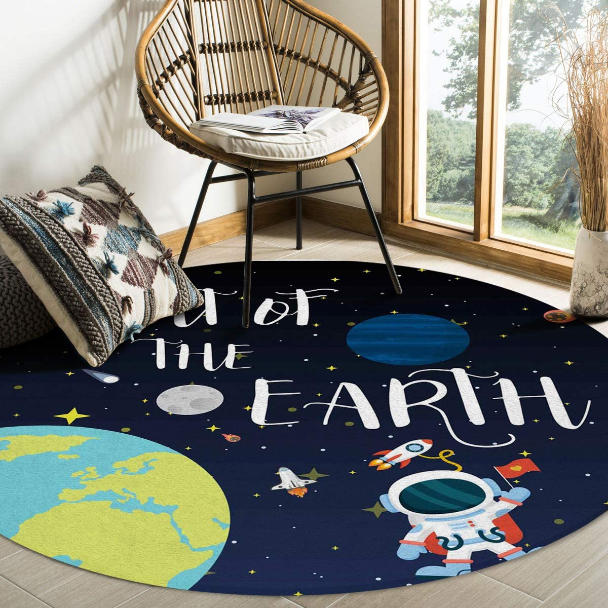 FAMILYDECOR Indoor Round Area Rug - Feet Non-Slip New products world's highest quality popular Floor Mats Sale Special Price C 4