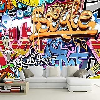 Papel Tapiz Mural 4D Personalizado,Arte Graffiti Abstracto Antecedentes Photo Tv Hd Grandes Murales De Seda Arte Imprimir Imagen De Póster Para El Salón Dormitorio Sofá Decoracion,300Cm(H) X 500Cm