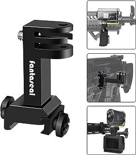 Cámara de acción 2 en 1 pistola de acción adaptador de carril Picatinny compatible con GoPro Hero 7/6/5/4/3 + / 3 Cámara Sony Sport para Airsoft Gun Air Rifle Carabina de carabina etc.
