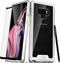 Zizo ION Series Compatible with Samsung Galaxy Note 9 Case Military Grade Drop Tested with Tempered Glass Screen Protector Silver Clear