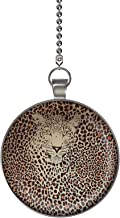 Gotham Decor Leopard in Leopard Print Ceiling Fan/Light Pull Pendant with Chain