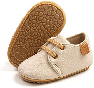 ENERCAKE Baby Boys Girls Oxford Shoes Soft Sole PU Leather Moccasins Infant Sneaker Toddler First Walkers Crib Shoes