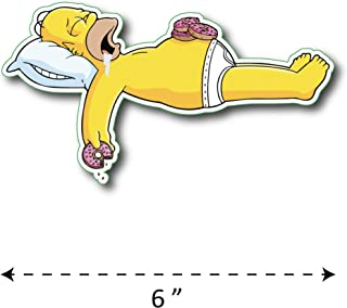 (TK-208) Simpson | Homer Sleep - Waterproof Vinyl Sticker for Laptops Tablets Cars Motocycles Bicycle Skateboard Luggage Or Any Flat Surface (6