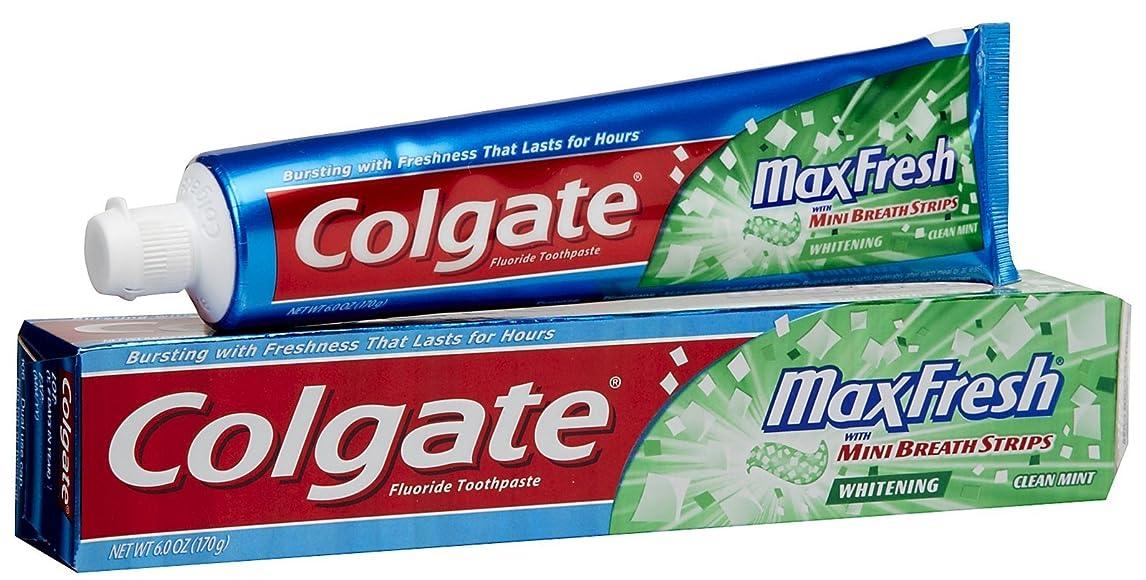 道路呼吸スイス人Colgate ブレスストリップハミガキクリーンミントMaxFreshホワイトニング 1パック