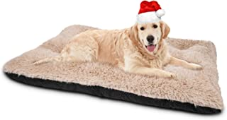 JOEJOY Dog Bed Crate Pad, Ultra Soft Calming Washable Anti-Slip Mattress Kennel Crate Bed Pad Mat 24/30/36/42 Inch for Lar...