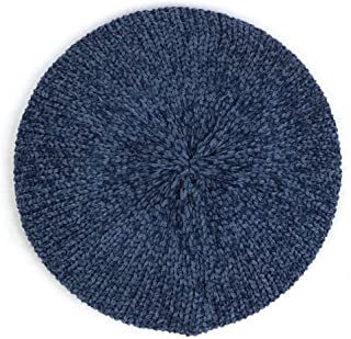 KCBYSS Women's Plain Classic Casual Knitted Breathable Thin Acrylic for Women Ladieswarm Hat (Color : Navy)