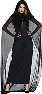 frawirshau Witch Costume for Women Sorceress Dress Wicked Witch Hat Sexy Halloween Costumes