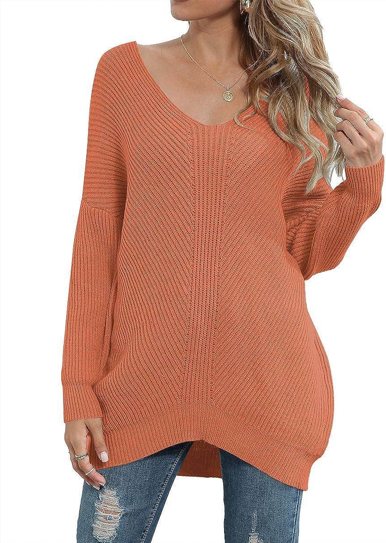 Margrine Women's Oversized Off Limited price Direct sale of manufacturer sale Shoulder Long Tops Pullover Sleev