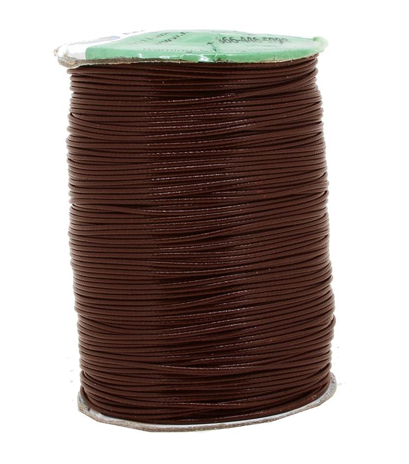 Mandala Crafts Macrame Supplies Extra Long Korean Wax Polyester Beading Craft Cord Thread (1mm (186 Yards Long), Brown)