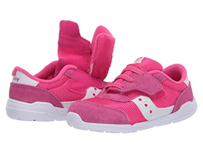 Saucony Kids Originals Jazz Riff (Toddler/Little Kid) (Pink/White) Girls Shoes