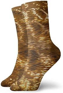 iuitt7rtree, Calcetines dorados ligeros ocasionales Divertidos para botas deportivas Senderismo Running Etc. socks7007