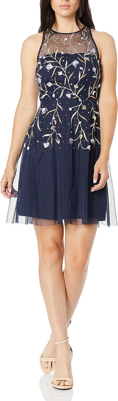 Aidan by Aidan Mattox Women's Beaded Cocktail Party Dress
