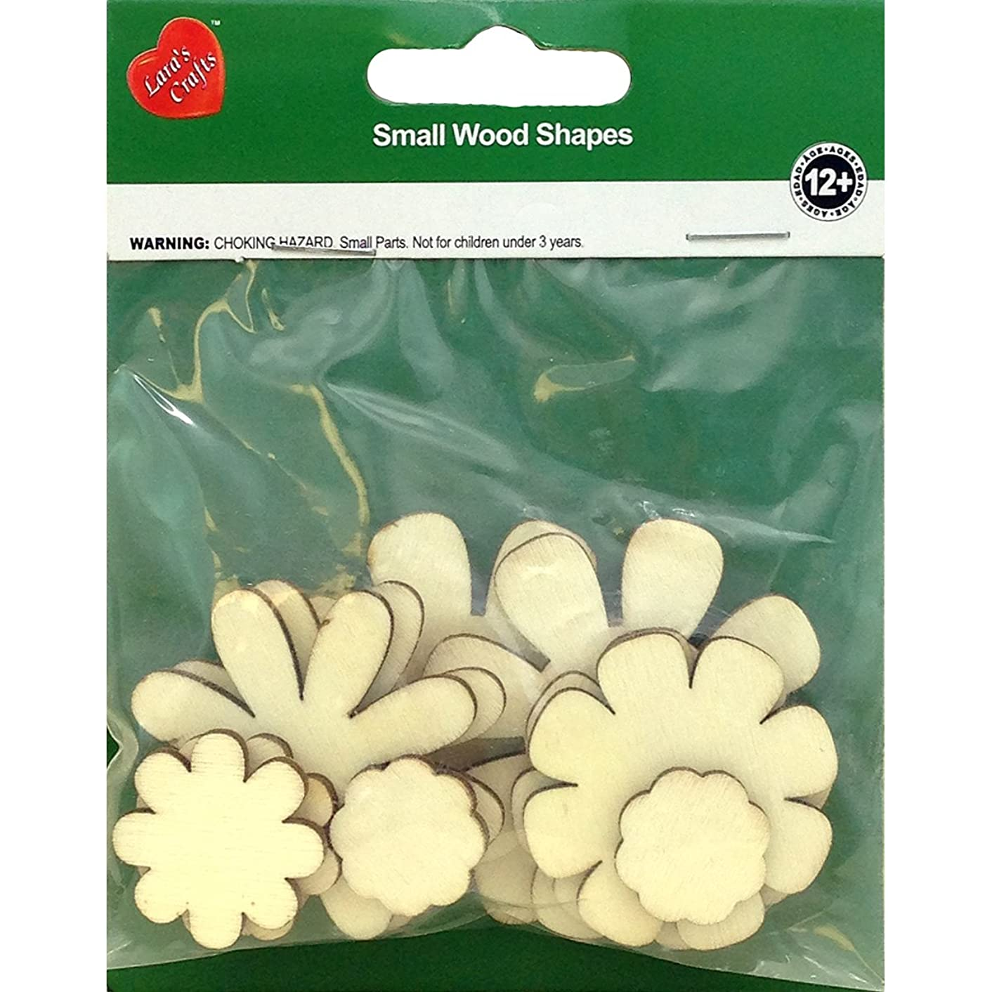 New Image Group Assorted Wood Shapes-Flowers (10/pkg)