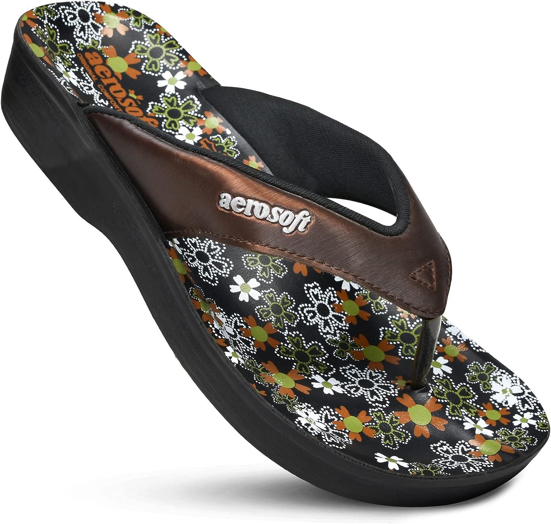 Aerosoft - Glitter Thong Beach Wear - Summer Arch Support Flip Flops for Women