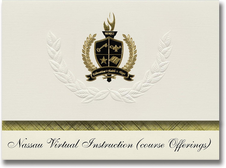 Signature Announcements Nassau Virtual Instruction Instruction Instruction (Kursangebote) (Fernandina Beach, FL) Abschlussankündigungen, Präsidentialitätspackung mit Goldfarbener und schwarzer Folienversiegelung, 25 Stück B07961PNVN | Sehen Sie die Welt aus d 02530c