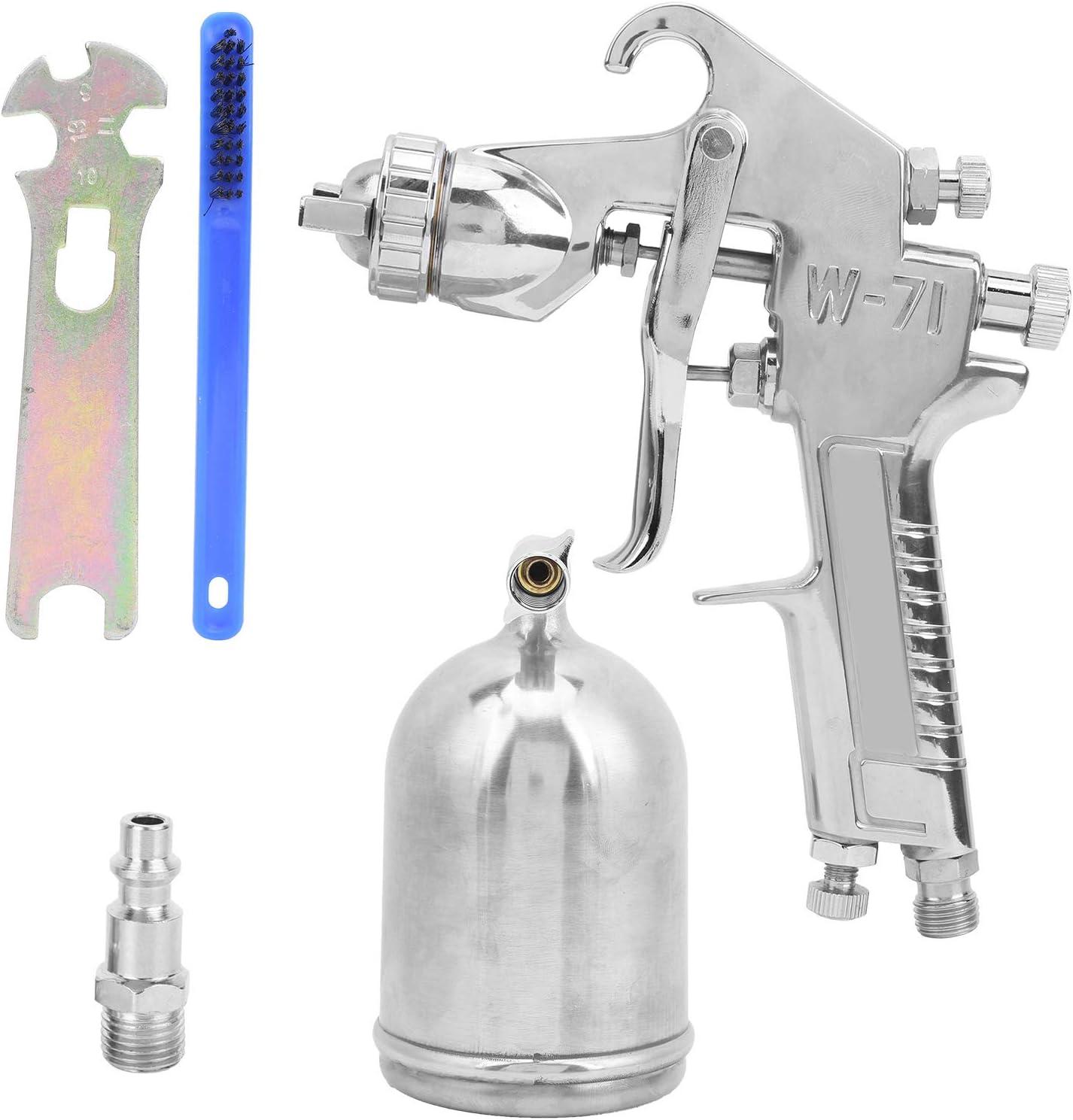 Pistola pulverizadora de pintura, pistola pulverizadora de recipiente superior, pintura de alimentación por gravedad de recipiente superior, herrajes de punta de flui(C)