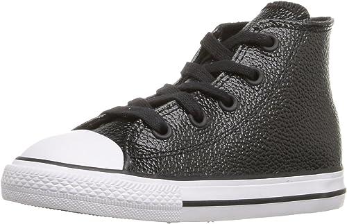 Converse Chuck Taylor All Star Season Hi Chaussures en Tissu Enfant - Noir - Noir Blanc, 17 EU EU